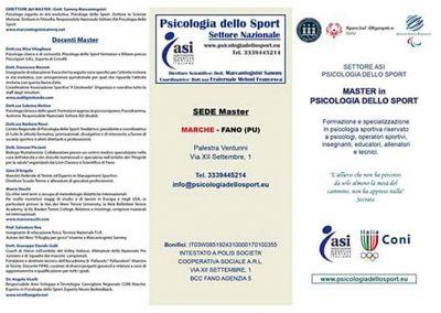 Master in Psicologia dello Sport 2017. Ecco tutte le info