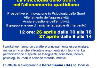 Workshop Psicosport Sardegna